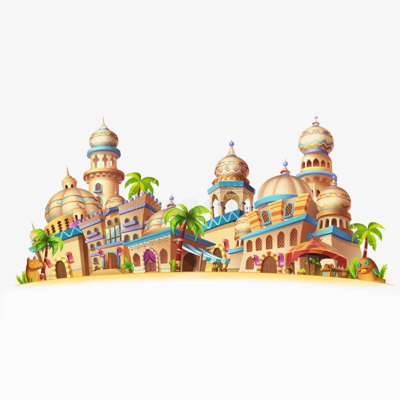 Mijn Kleine Stadsscène, Woestijnstad vector illustratie