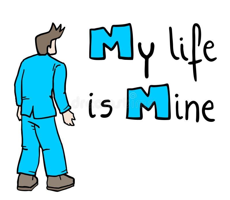 Mijn leven is mijnbericht vector illustratie