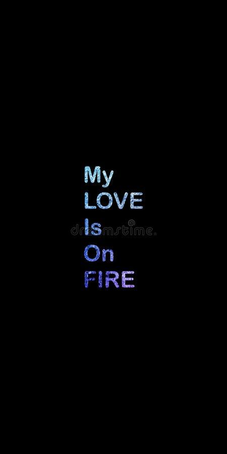 MIJN LIEFDE IS brand-inspireert motievencitaat Hand het getrokken mooie van letters voorzien Druk voor inspirational affiche stock illustratie
