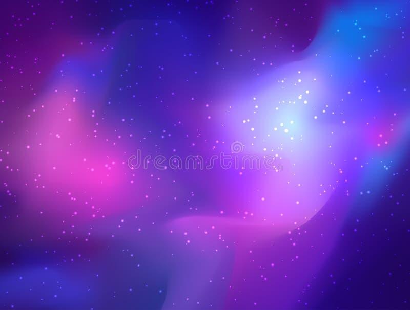 Mijn melkweg Vector heldere kleurrijke kosmosillustratie met sacre royalty-vrije illustratie