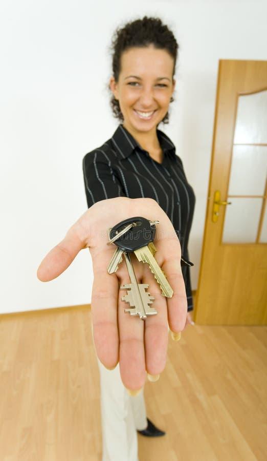 Mijn nieuwe sleutels stock fotografie