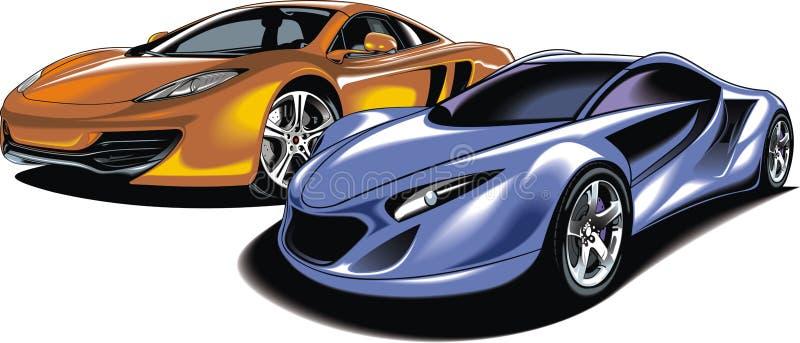 Mijn origineel sportwagensontwerp stock illustratie