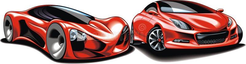 Mijn origineel sportwagensontwerp vector illustratie