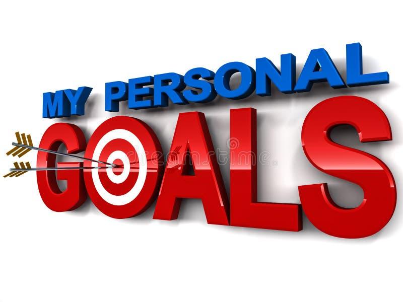 Mijn persoonlijke doelstellingen stock illustratie
