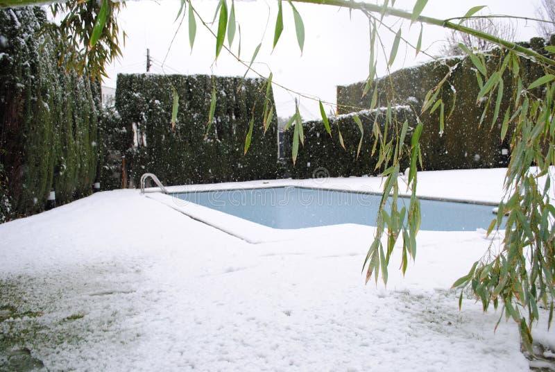 Mijn pool in een koude dag royalty-vrije stock foto