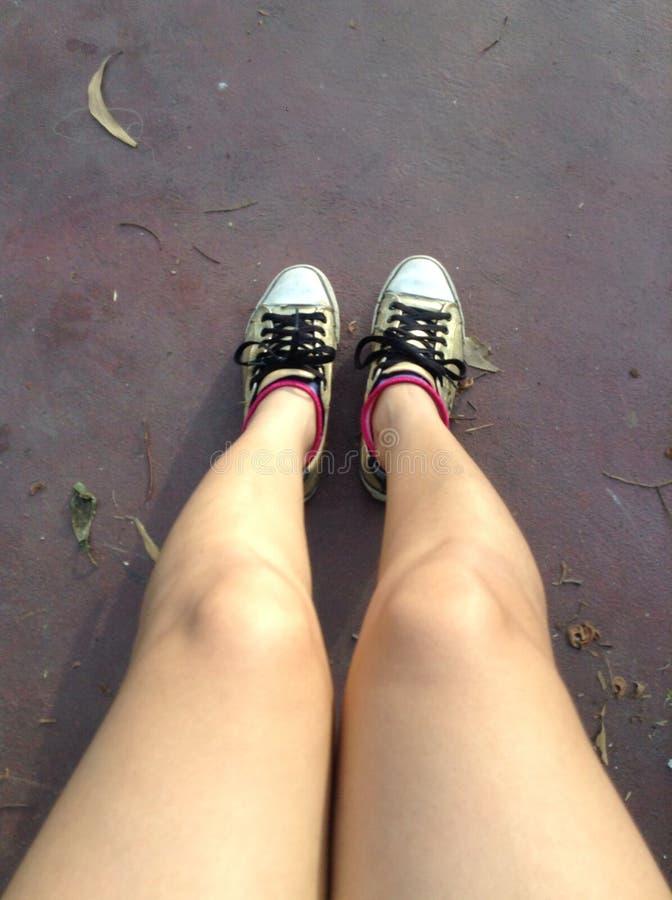 Mijn schoenen royalty-vrije stock afbeelding