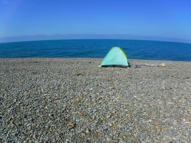 Mijn tent is op de Zwarte Zee en dit is mijn repetitieplaats royalty-vrije stock fotografie