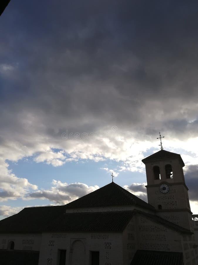 Mijn town& x27; s kerk royalty-vrije stock afbeeldingen
