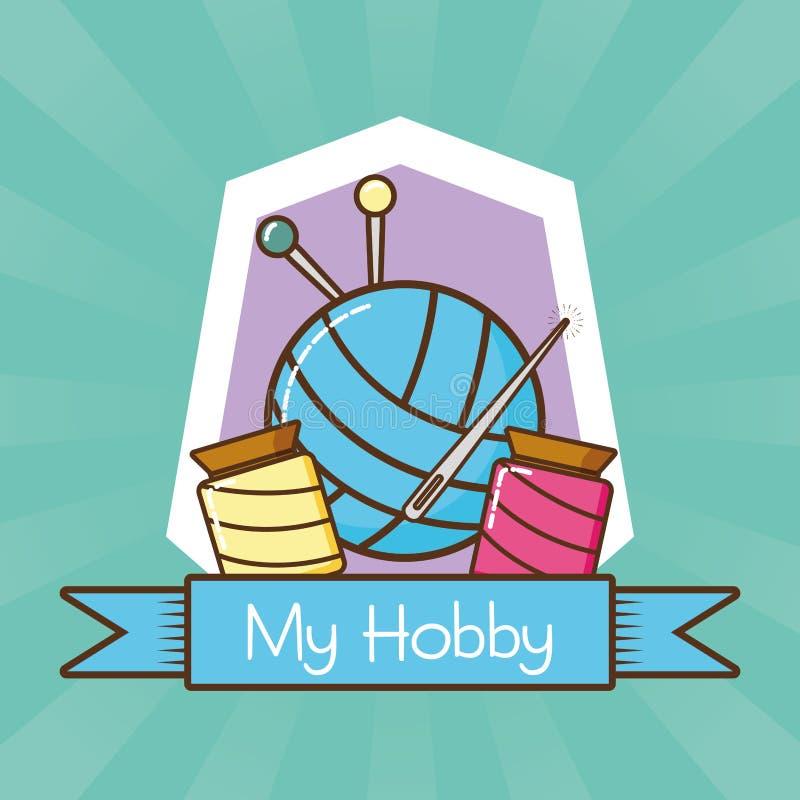 Mijn verwante hobby royalty-vrije illustratie