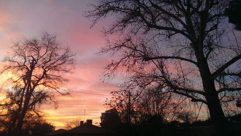 Mijn zonsondergang stock foto's