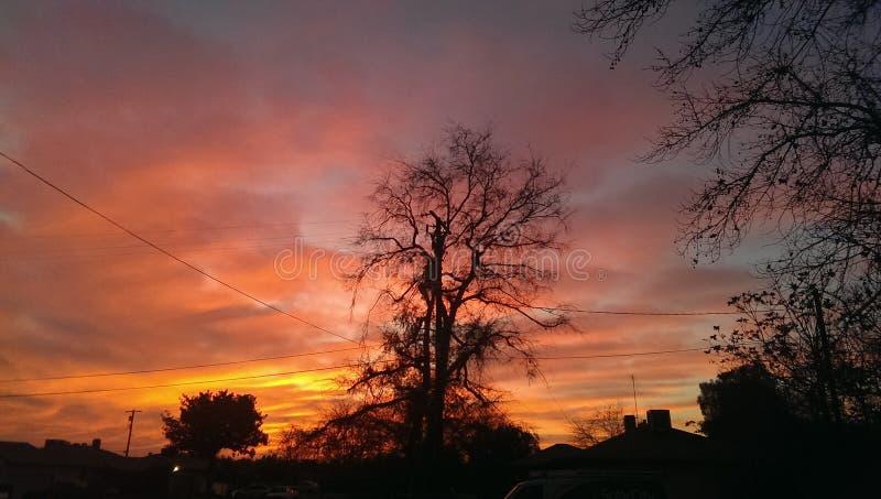 Mijn zonsondergang stock afbeeldingen