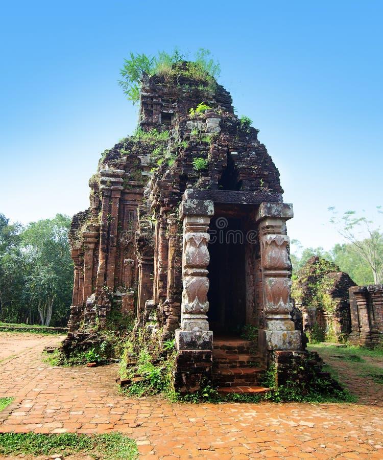 Mijn Zoonsheiligdom, Unesco-de Plaats van de Werelderfenis in Danang, Vietnam. royalty-vrije stock foto