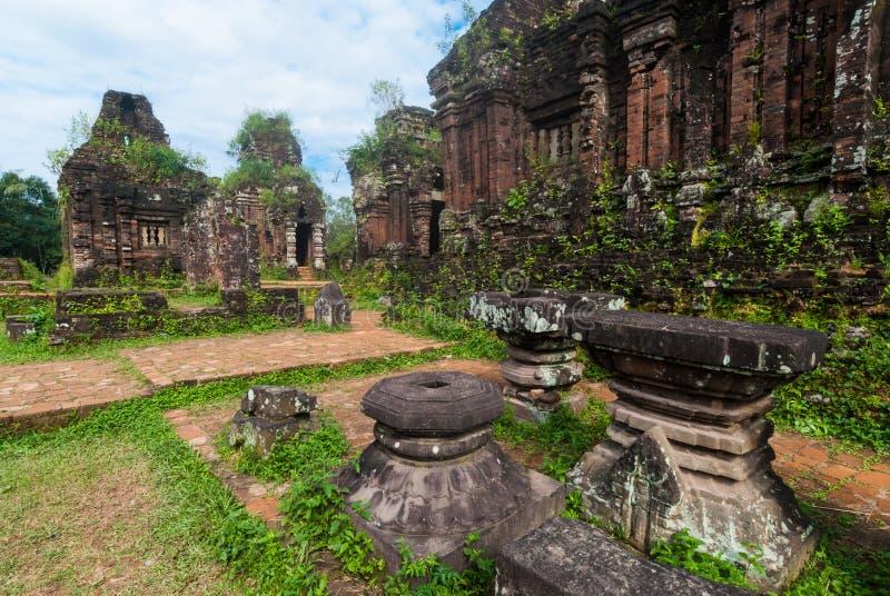 Mijn Zoonsheiligdom, Vietnam royalty-vrije stock foto's