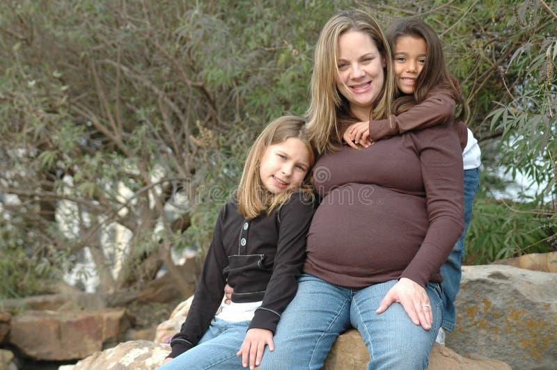 Mijn Zwangere Mama stock foto