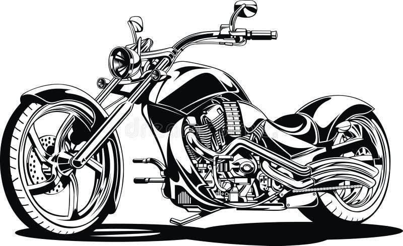 Mijn zwart-wit motorontwerp stock illustratie