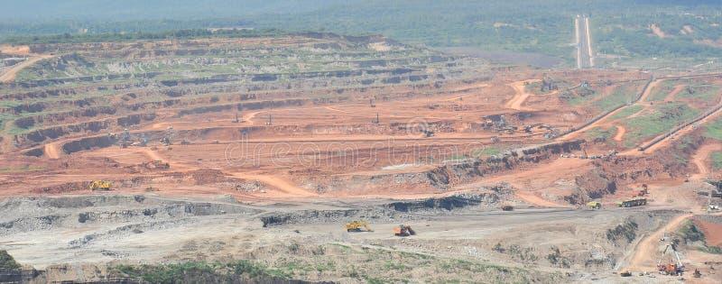 Mijnbouw van steenkool royalty-vrije stock foto