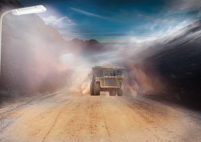 Mijnbouwactiviteit stock afbeelding