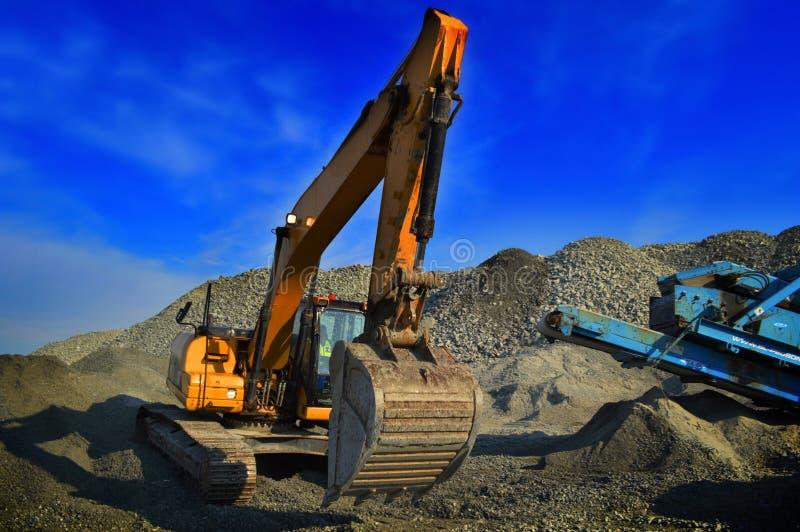 Mijnbouwgraver stock foto