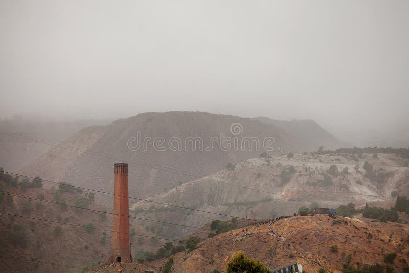 Mijnbouwoverblijfselen Queenstown royalty-vrije stock foto