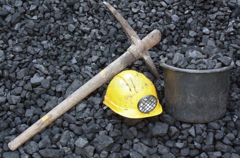 Mijnbouwsteenkool royalty-vrije stock foto