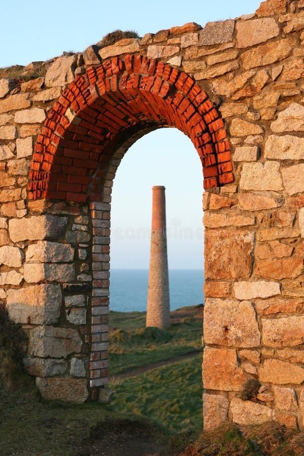 Mijnen de van Cornwall van het Tin stock afbeelding