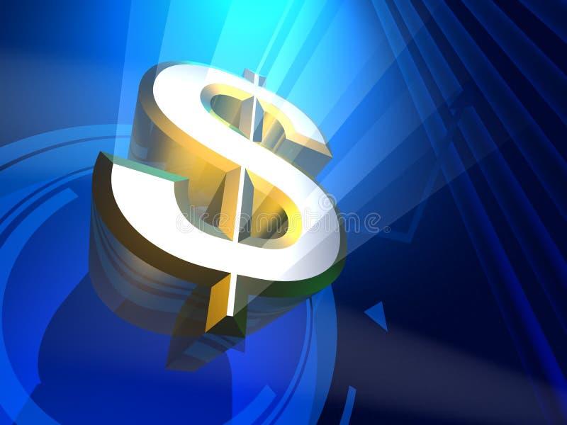 Mijnheer 3D Dollar geeft terug vector illustratie