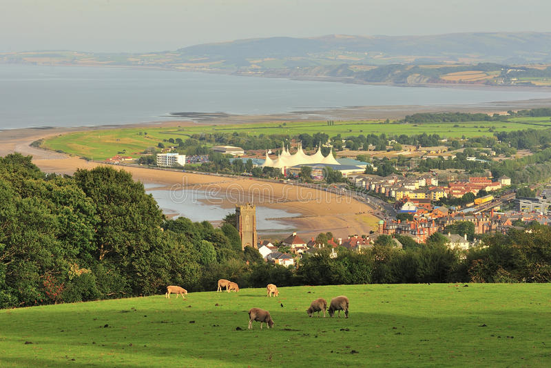 Mijningang, kuststad, Somerset royalty-vrije stock foto