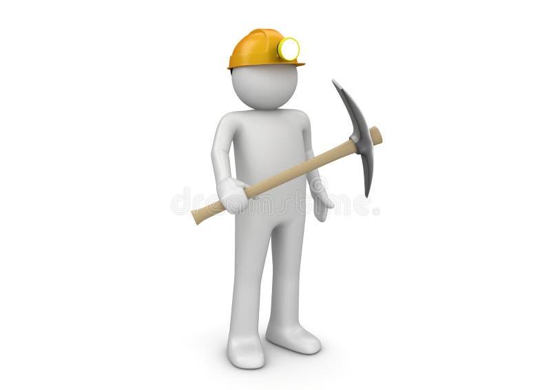 Mijnwerker - Arbeiders royalty-vrije illustratie