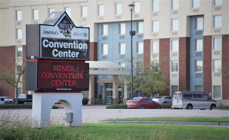 Mijnwerker Convention Center, Mijnwerker Illinois royalty-vrije stock afbeeldingen