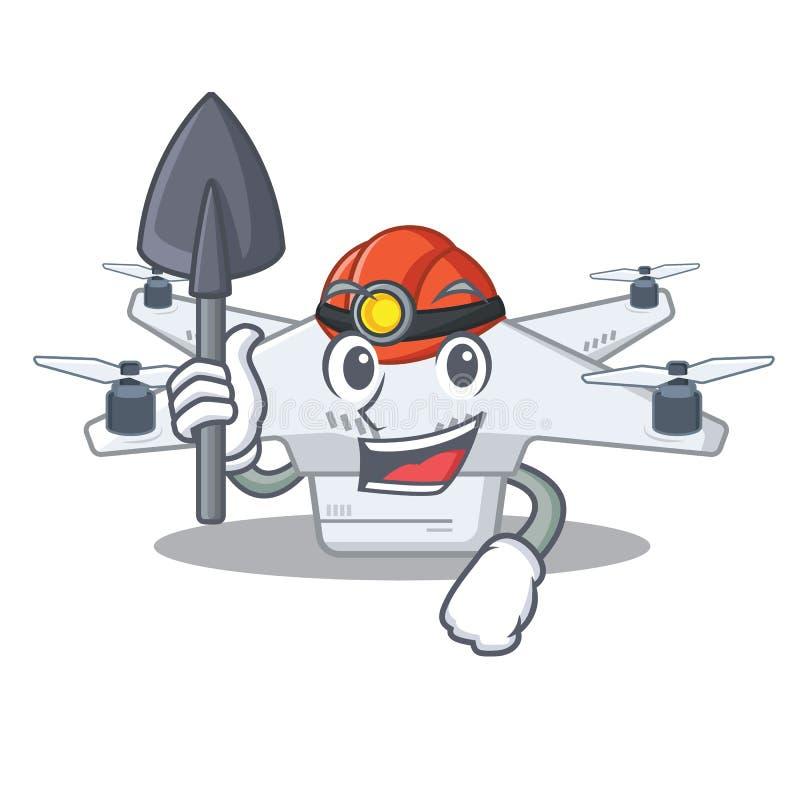 Mijnwerkershommel in karaktervorm vector illustratie