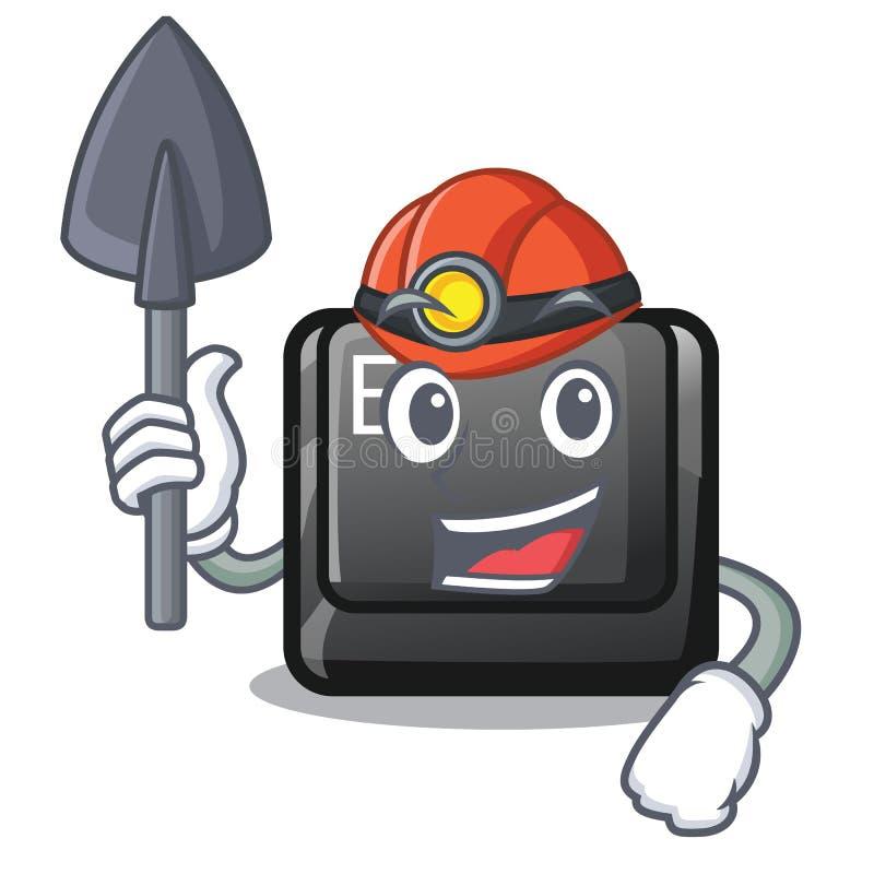 Mijnwerkersknoop E in de mascottevorm royalty-vrije illustratie