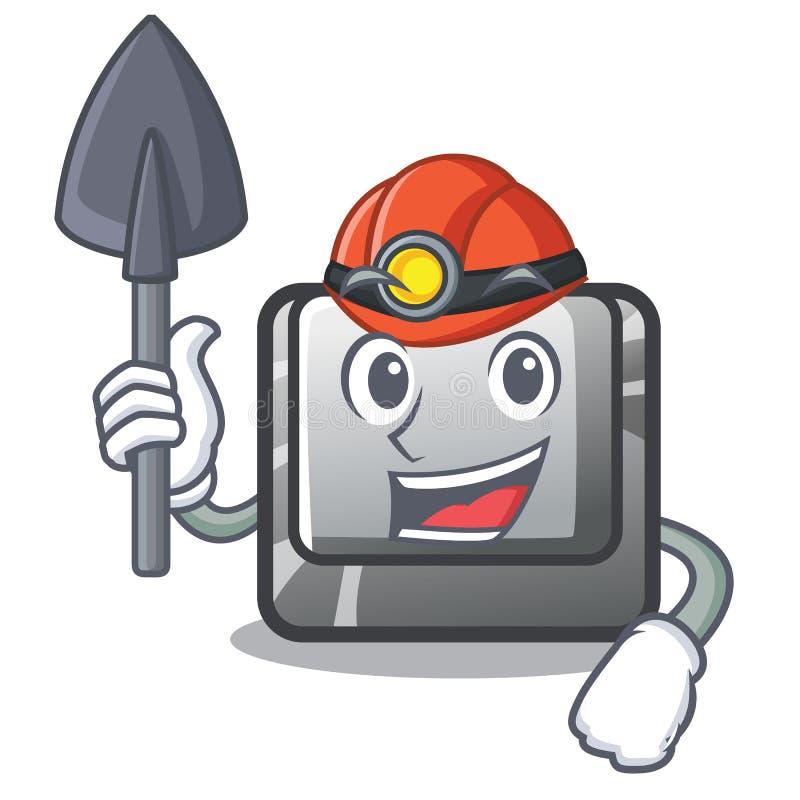 Mijnwerkersknoop I in het beeldverhaalspel vector illustratie