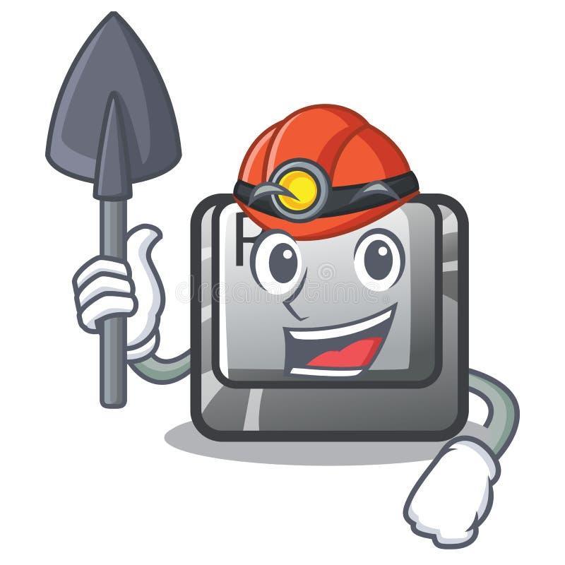 Mijnwerkersknoop R in de mascottevorm royalty-vrije illustratie