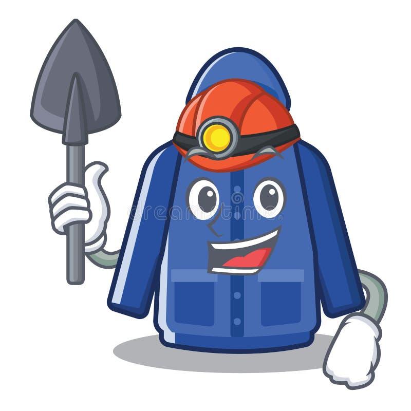 Mijnwerkersregenjas in beeldverhaalvorm vector illustratie