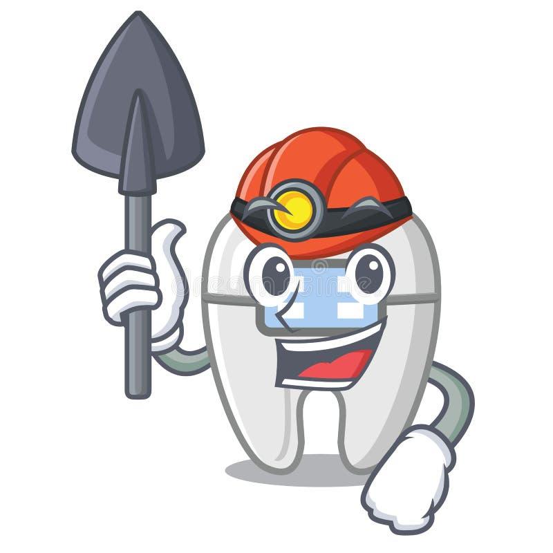 Mijnwerkerssteunen in beeldverhaalvorm vector illustratie