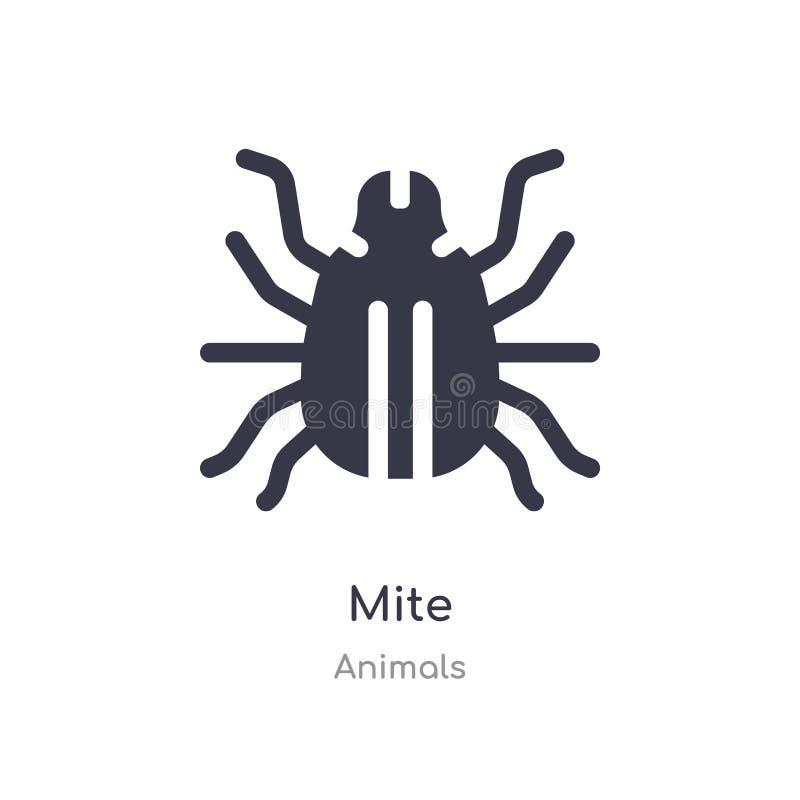 Mijtpictogram de geïsoleerde vectorillustratie van het mijtpictogram van diereninzameling editable zing symbool kan gebruik voor  vector illustratie