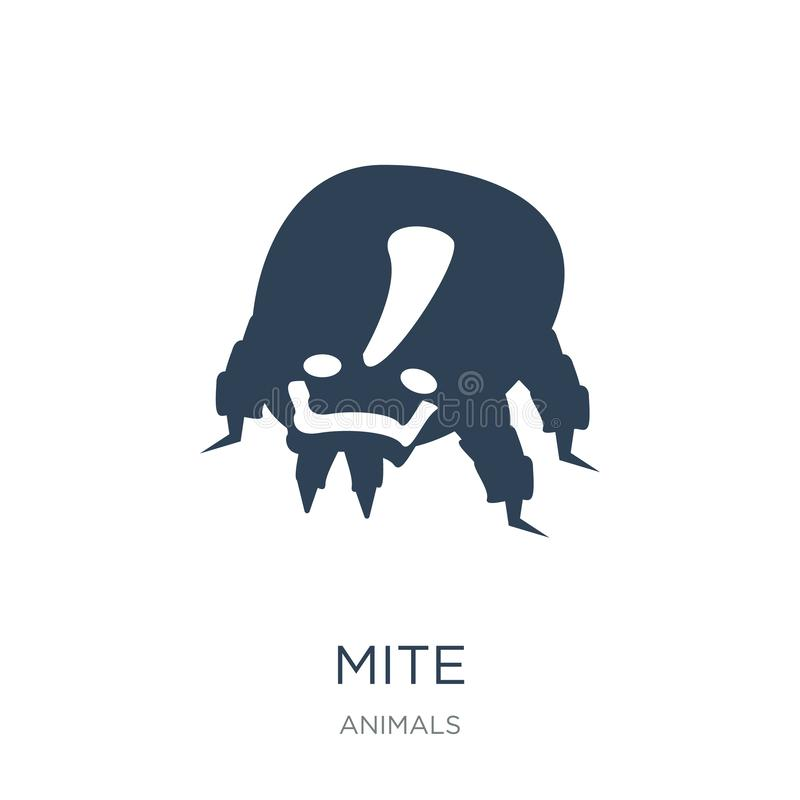 mijtpictogram in in ontwerpstijl mijtpictogram op witte achtergrond wordt geïsoleerd die eenvoudige en moderne vlakke symbool van royalty-vrije illustratie