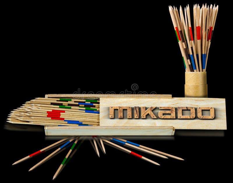 Mikado - ξύλινα ραβδιά και κιβώτια ελεύθερη απεικόνιση δικαιώματος