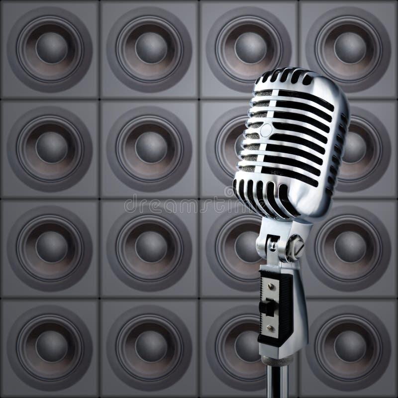 Mike&Speakers imagem de stock royalty free