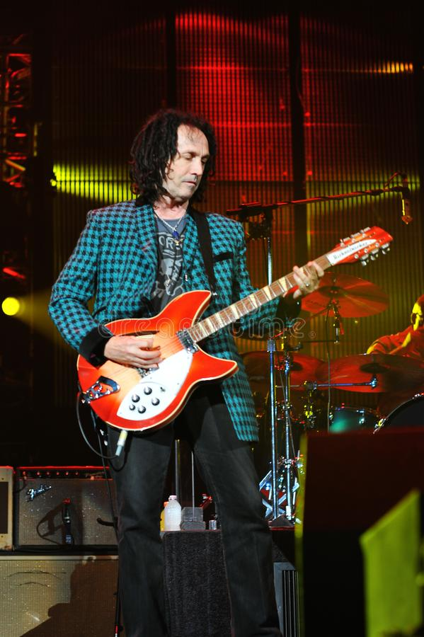 Mike Campbell of Tom Petty and the Heartbreakers in ny 8-14-10. Mike Campbell of Tom Petty and the Heartbreakers playing in darien lake ny on 8-14-2010 stock photo