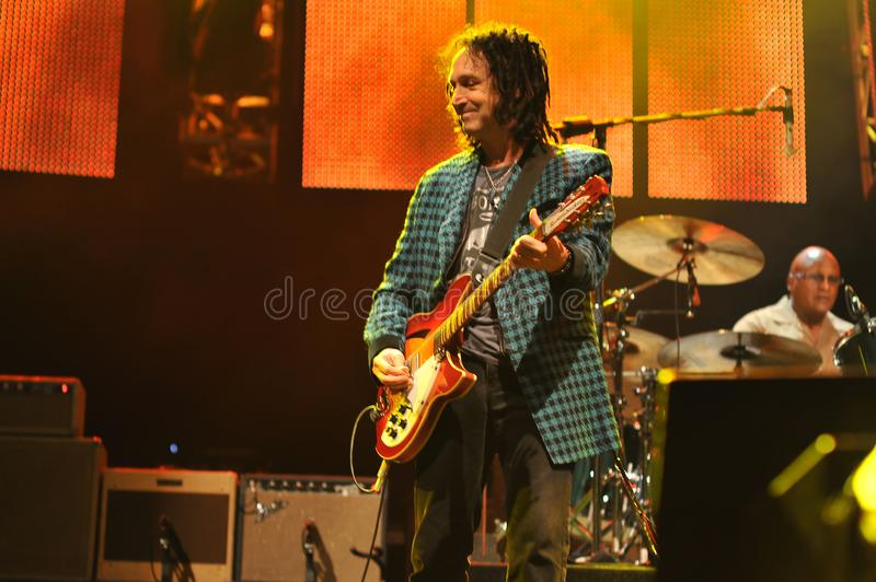 Mike Campbell of Tom Petty and the Heartbreakers in ny 8-14-10. Mike Campbell Tom Petty and the Heartbreakers playing in darien lake ny on 8-14-2010 stock photos
