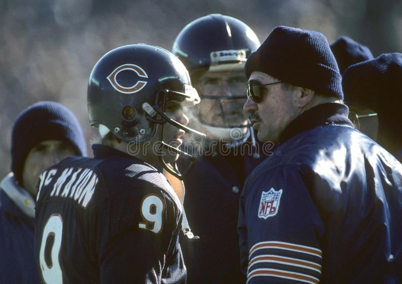 Mike Ditka and Jim McMahon Chicago Bears stock image