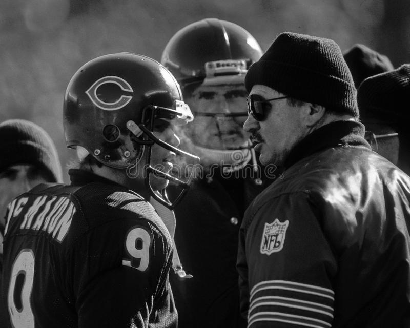 Mike Ditka and Jim McMahon Chicago Bears stock images