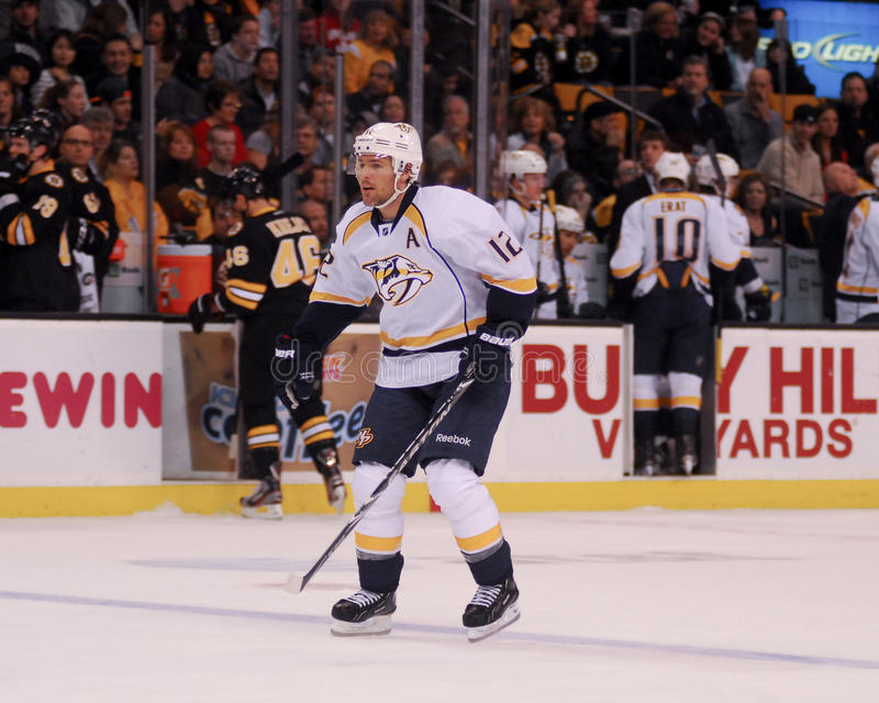 Mike Fisher, Nashville drapieżniki obrazy stock