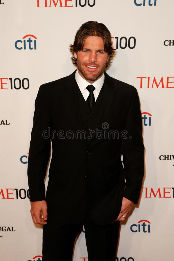 Mike Fisher. NEW YORK-APR 29: NHL player Mike Fisher attends the Time 100 Gala celebrating its Time 100 Issue of the Most Influential People in the World at the royalty free stock photos