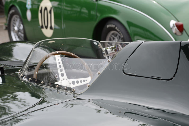 Mike Hawthorn 1955 Jaguar D-type. CLK and Goodwood Revival test day at the West Sussex motor circuit on Tuesday 22nd August 2017. The Jaguar D-type which Mike stock photos
