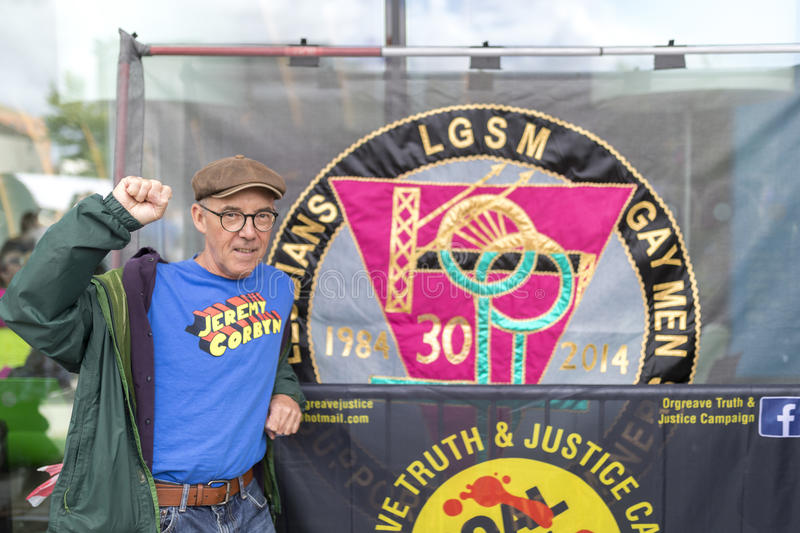 Mike Jackson, one of the founding members of the campaign group. Lesbian and Gays Support the Miners during the miners strike stock photography