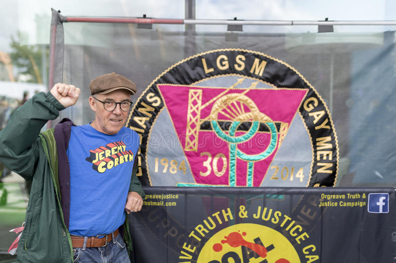 Mike Jackson, one of the founding members of the campaign group. Lesbian and Gays Support the Miners during the miners strike royalty free stock photos