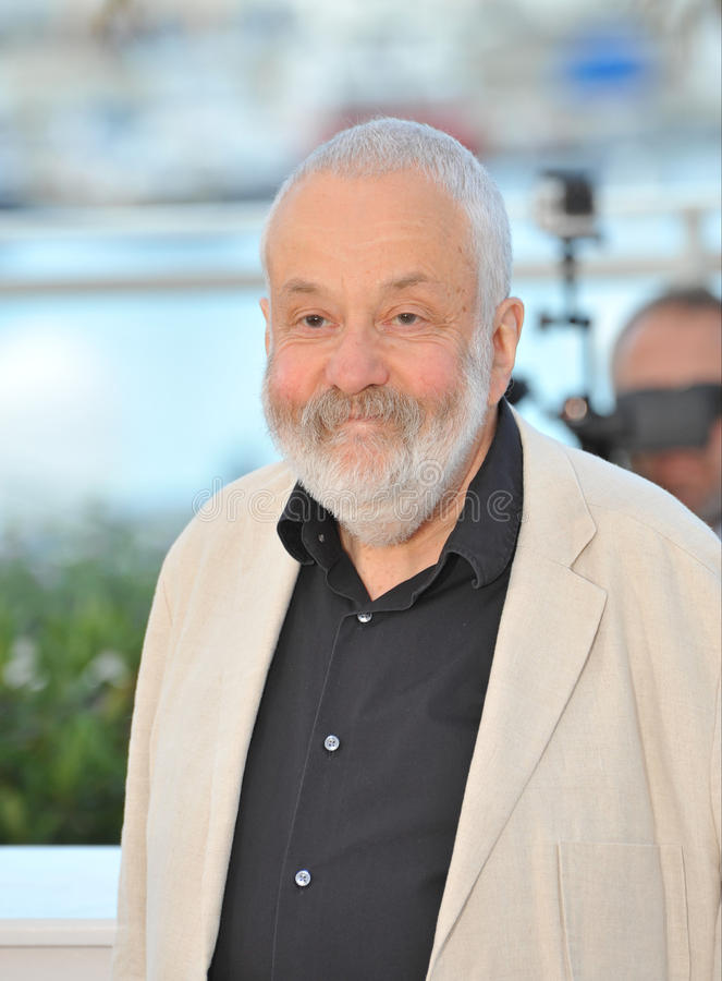 Mike Leigh. CANNES, FRANCE - MAY 15, 2014: Director Mike Leigh at the photocall for his new movie Mr. Turner at the 67th Festival de Cannes stock image