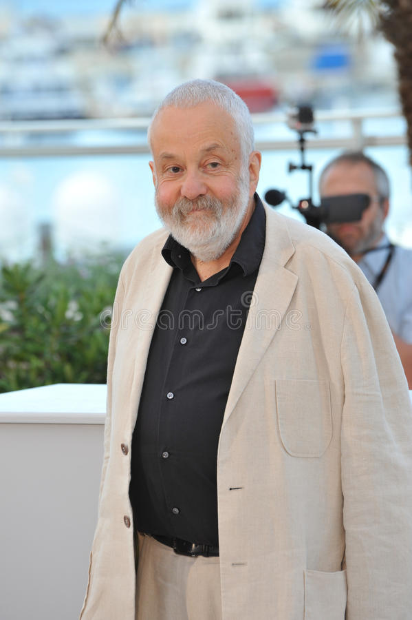 Mike Leigh. CANNES, FRANCE - MAY 15, 2014: Director Mike Leigh at the photocall for his new movie Mr. Turner at the 67th Festival de Cannes royalty free stock photos